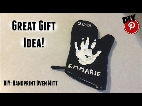 DIY: Handprint Oven Mitt - Great Gift Idea - YouTube
