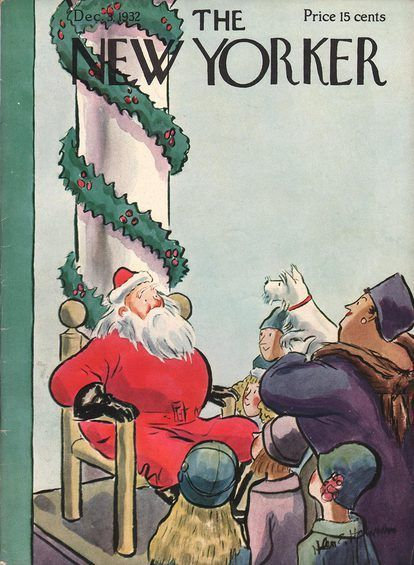 The New Yorker December 3 1932 Christmas Cover New Yorker Covers The New Yorker
