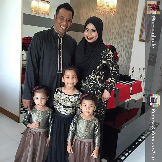 Loving The Black And Gold Accent Theme For Raya 2015 Ootd