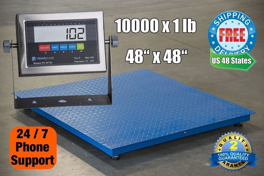 10000x1lb 4x4 Floor Scale Pallet Scale W Stainless Steel Indicator Primescales Floor Scale Pallet Scale Pallet