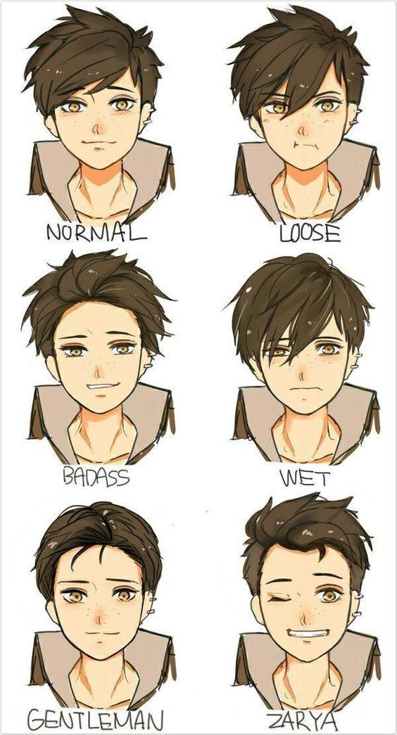 Hair References Boy Hair Drawing Anime Face Drawing Anime Boy Hair