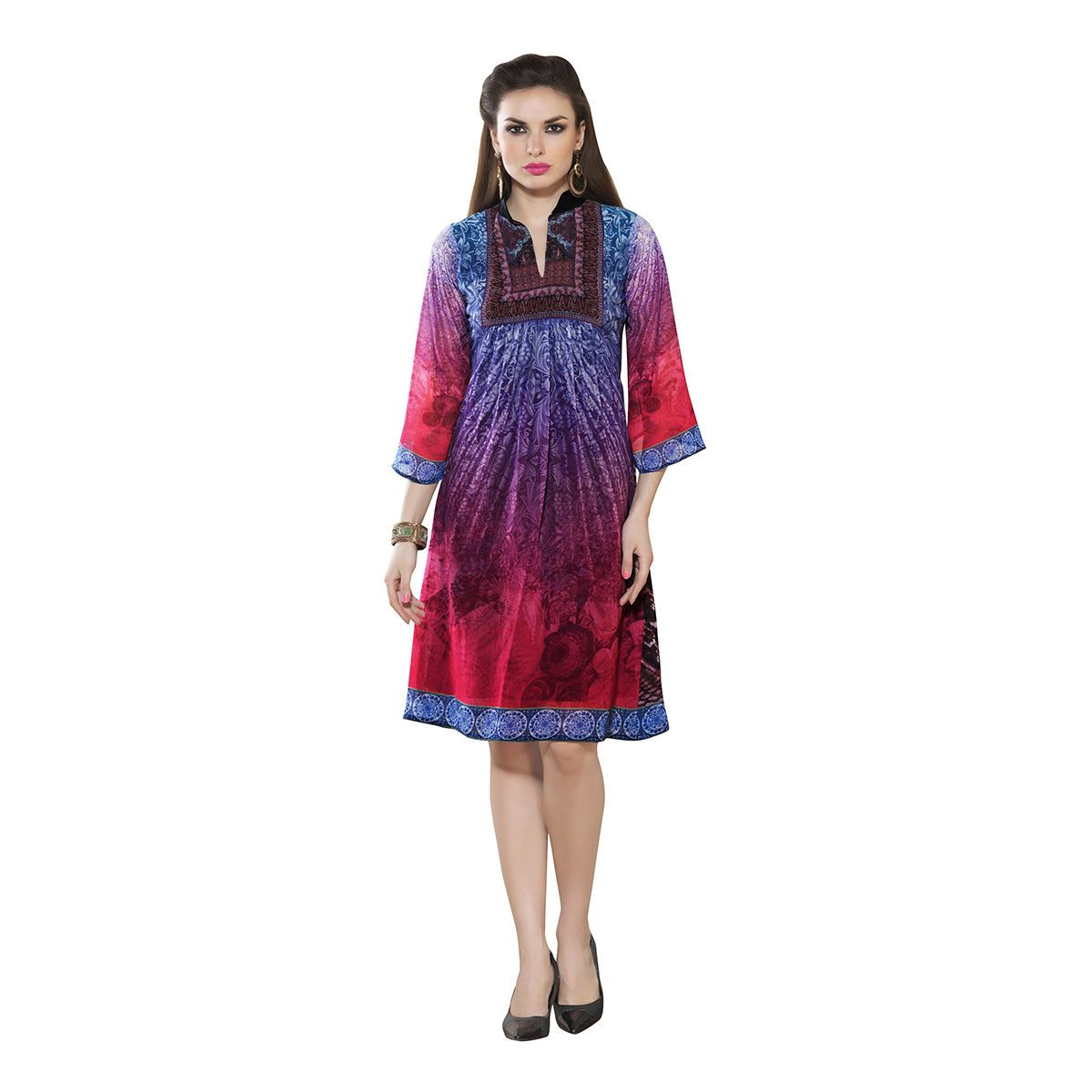 http://www.thatsend.com/shopping/lp/fvp/TESG11142/i/TE22926/iu/xl-pink-georgette-kurti  Xl Pink Georgette Kurti Apparel Pattern Printed. Style Casual. Occasion Casual. Work Print. Top Color PINK. Top Fabric Georgette.