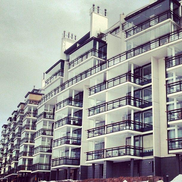 #Helsinki #building #balcony #window #glass #modern #architecture #design #Finland #Europe