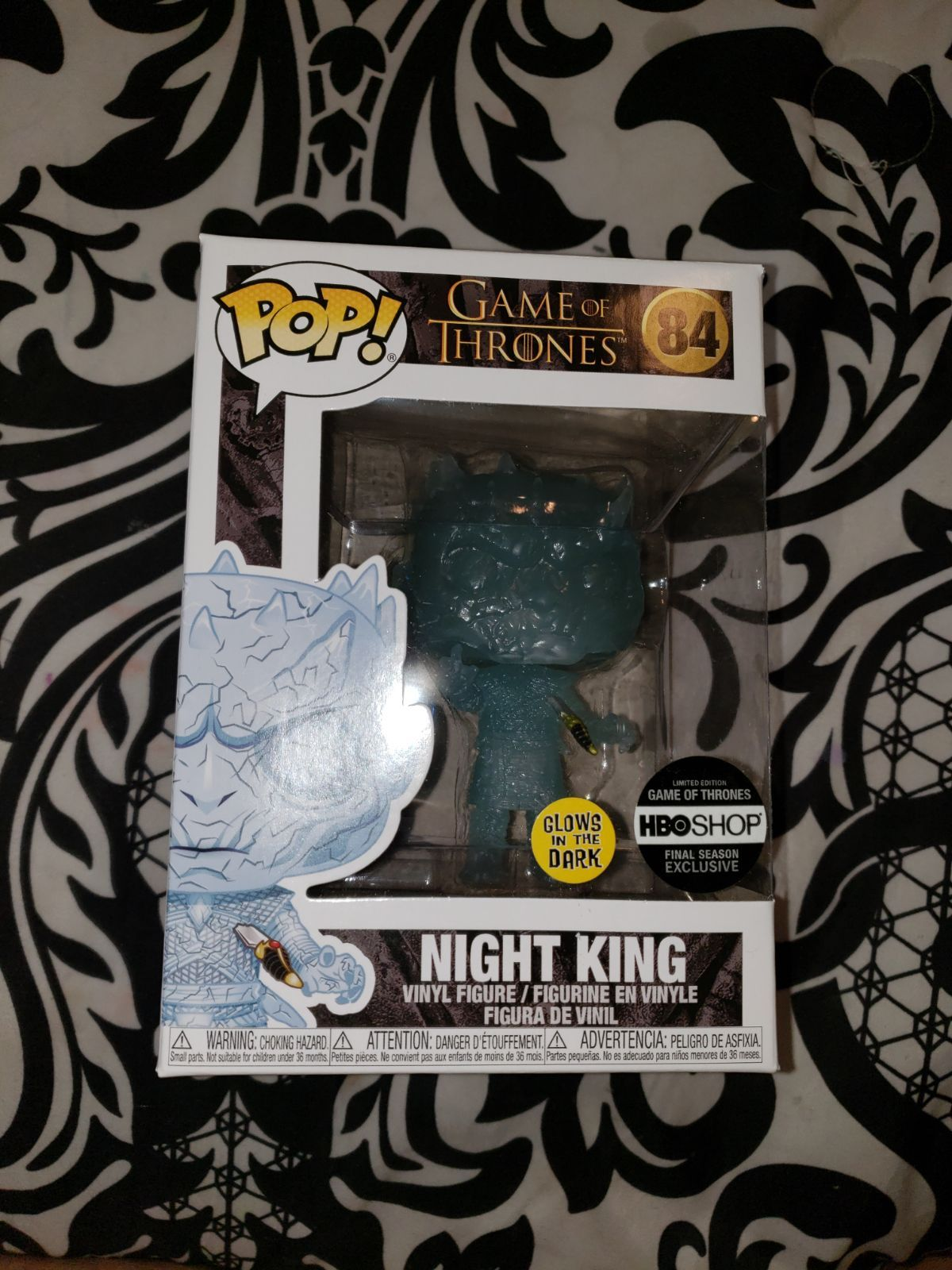 Funko Pop Glow In The Dark Night King Hbo Exclusive It Will Be Shipped In A Soft Protector Night King Vinyl Figures Funko