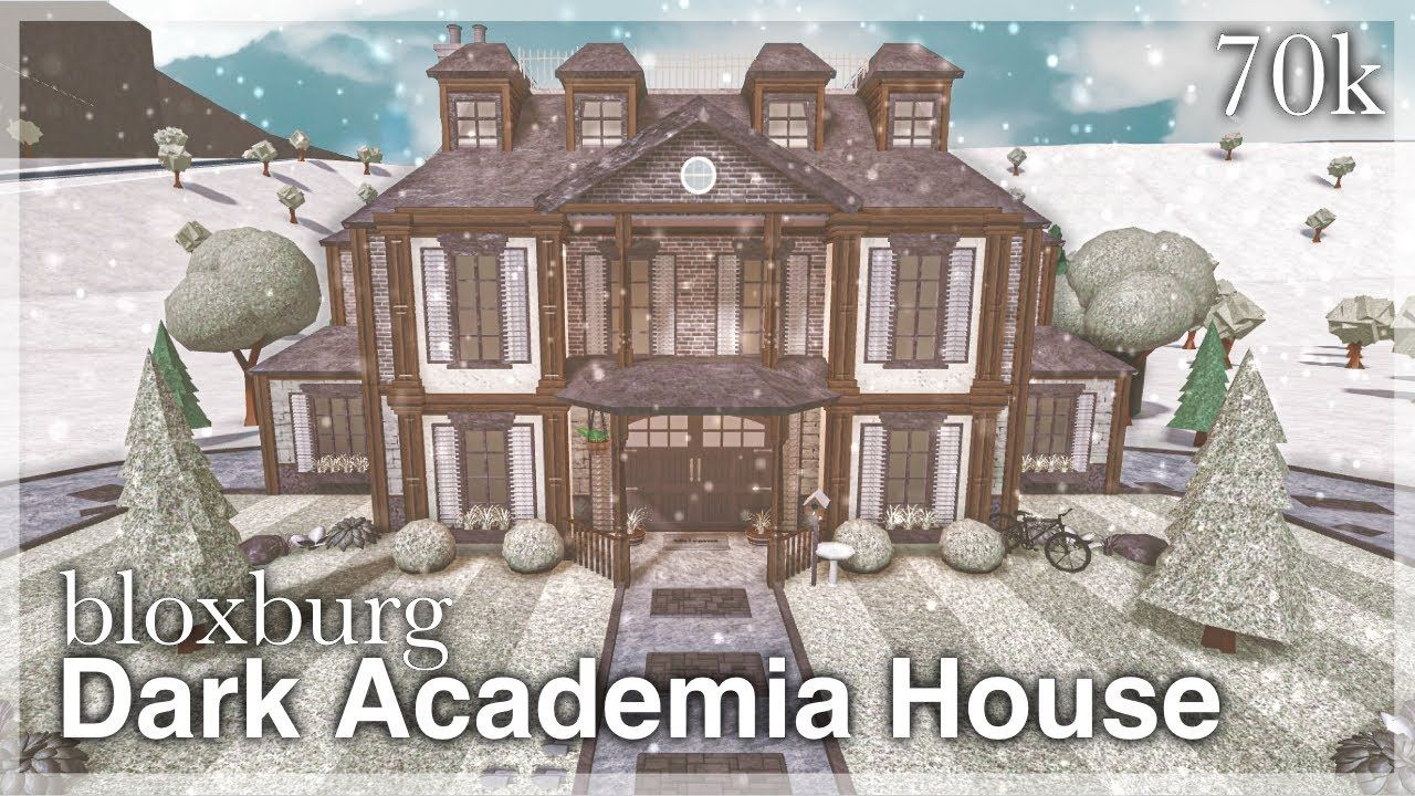 Bloxburg Dark Academia House Speedbuild Exterior Youtube In 2021 Dark Academia House Dark House Unique House Design
