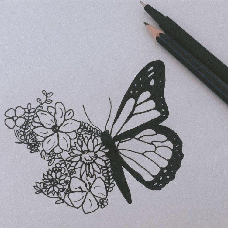 188ba0ac65ecb575dbdcdabbab0dd3c6 » Butterfly Drawing Aesthetic