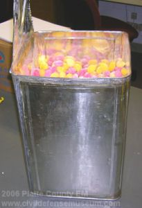 Civil Defense Museum Community Fallout Shelter Supplies Food Rations Food Rations Food Civil Defense