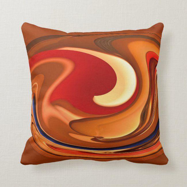 Funky Abstract Burnt Orange Red Throw Pillow #decorative #throw #pillows #throw #pillow #pillows #homedecor #homedecorating #decorating #livingspace #home #livingroom #bedroom