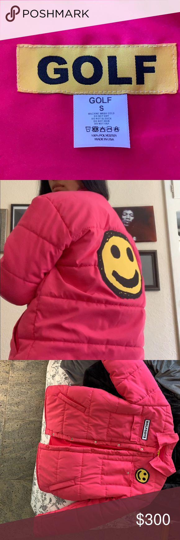 Pink Puffer Jacket Great Condition Pink Golf Wang Bolf Goys Puffer Jacket Golf Wang Jackets Coats Puffers Pink Puffer Jacket Clothes Design Puffer Jackets [ 1740 x 580 Pixel ]