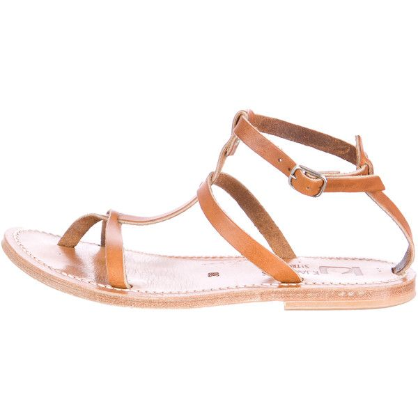 marketable online K Jacques St. Tropez Embossed Mid-Heel Sandals buy authentic online outlet clearance vGSuyk