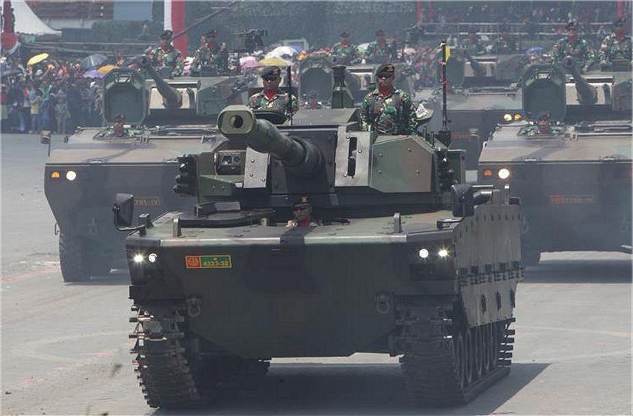 New Light Medium Tank Fnss At Indonesian Military Parade 925 001 Military Vehicles Military Tank