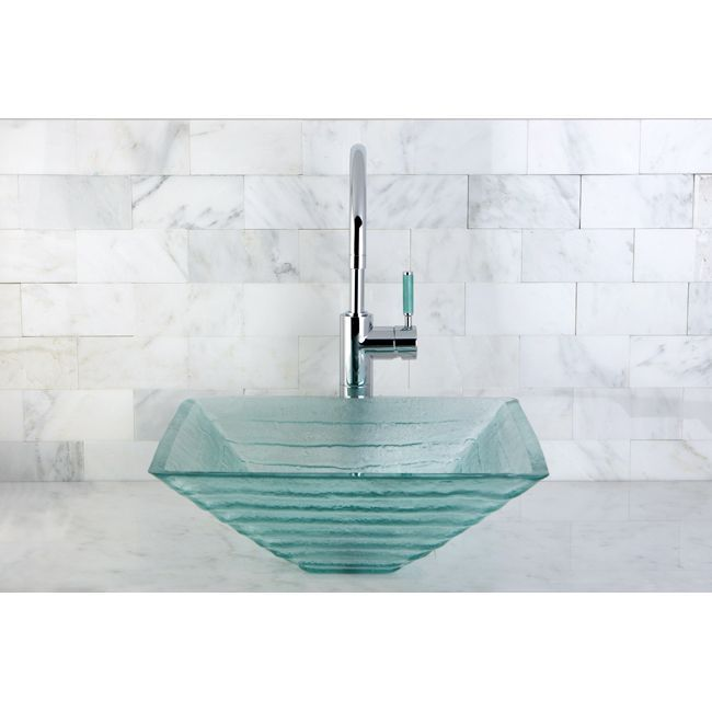 Glass Vessel Sinks Are All The Rage And This Crystal Bathroom Custom Small Bathroom Vessel Sink Inspiration Design