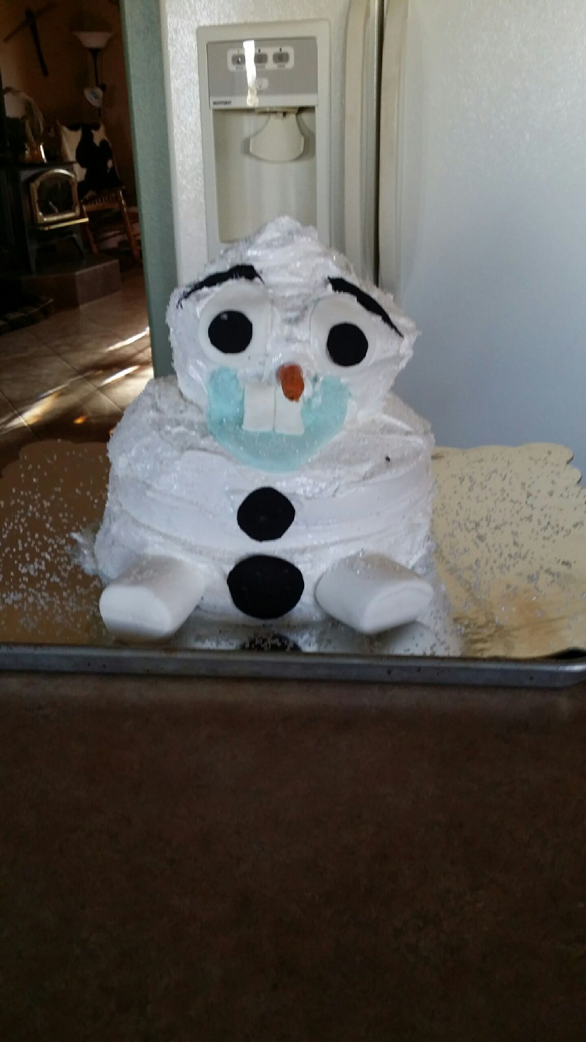 Olaf Cake Fail From Frozen With Anna And Elsa Great