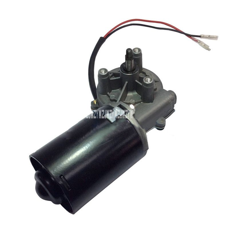 New Dc Gear Motor High Torque 6n M Garage Door Raplacement Electric Right Angle Reversible Worm Gear Motor 5a 12v 24v Electricity Smart Appliances Garage Doors