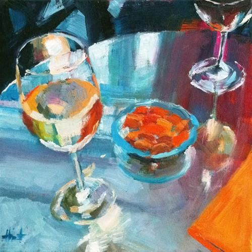 """Let's Have a Drink at Oscar's!"" by liza hirst"