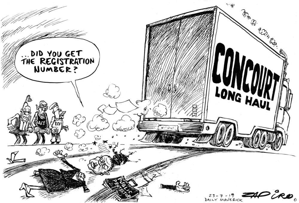 #BusisiweMkhwebane #jacobzuma #AceMagashule #JuliusMalema Floored - Zapiro July 2019