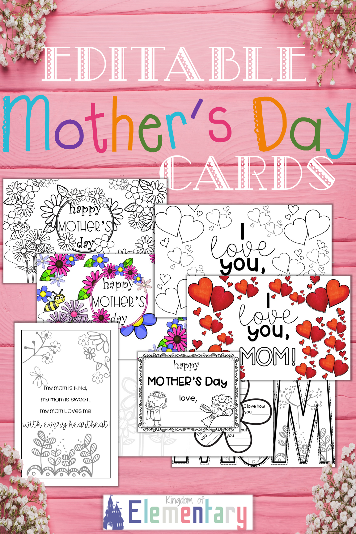 Editable Mother S Day Cards Printable Templates Mothers Day Cards Printable Mothers Day Cards Mothers Day Card Template