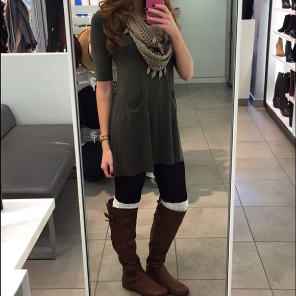 size 40 official site classic shoes Under-the-knee boots Trendy brown boots that match with ...