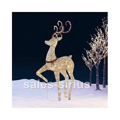 outdoor christmas reindeer decorations lighted indoor light up xmas decor led - Outdoor Christmas Reindeer