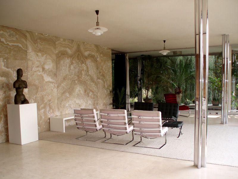 Villa tugendhat interier living room brno czech for Design apartment udolni brno