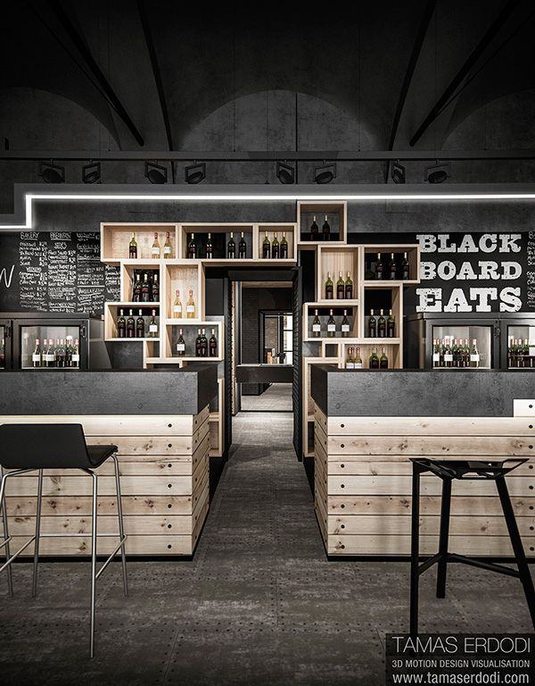 Locales decorados con cajas hospitality architects and for Commercial wine bar design ideas