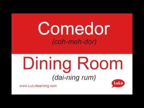 Comedor en Inglés = Dining Room in Spanish   Learn to speak ...