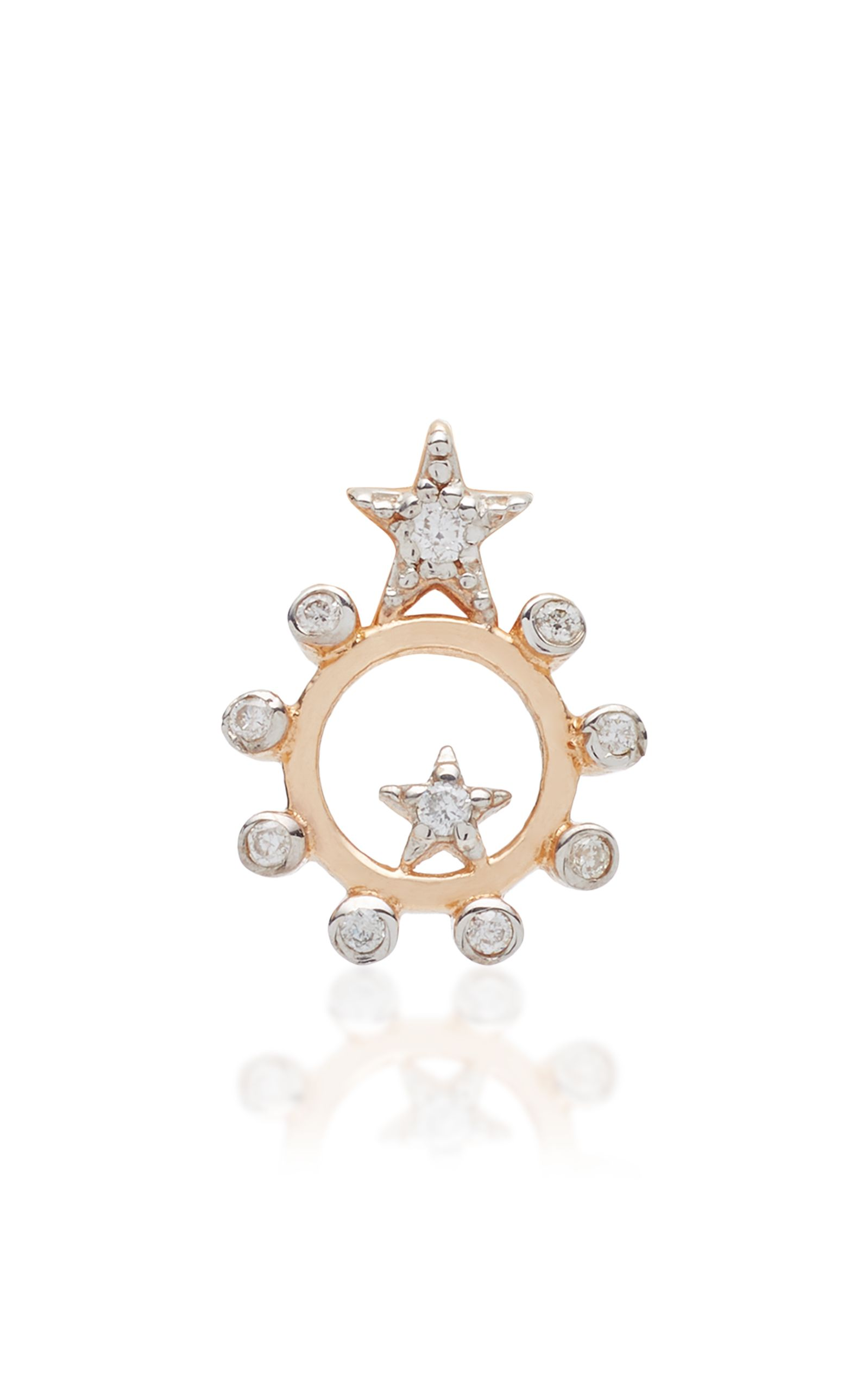 Kismet by Milka Eclectic Champagne & White Diamond Large Star Stud Earring w4p0GkDw