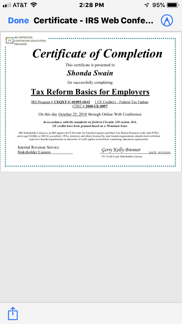 Pin By Authoress Precious Swain On Anointedforprosperity Taxtips Tax Preparation Online Web Certificate Of Completion