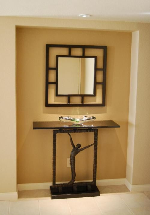 Art Deco Foyer Furniture : Art deco stenciled entrance with an feel this