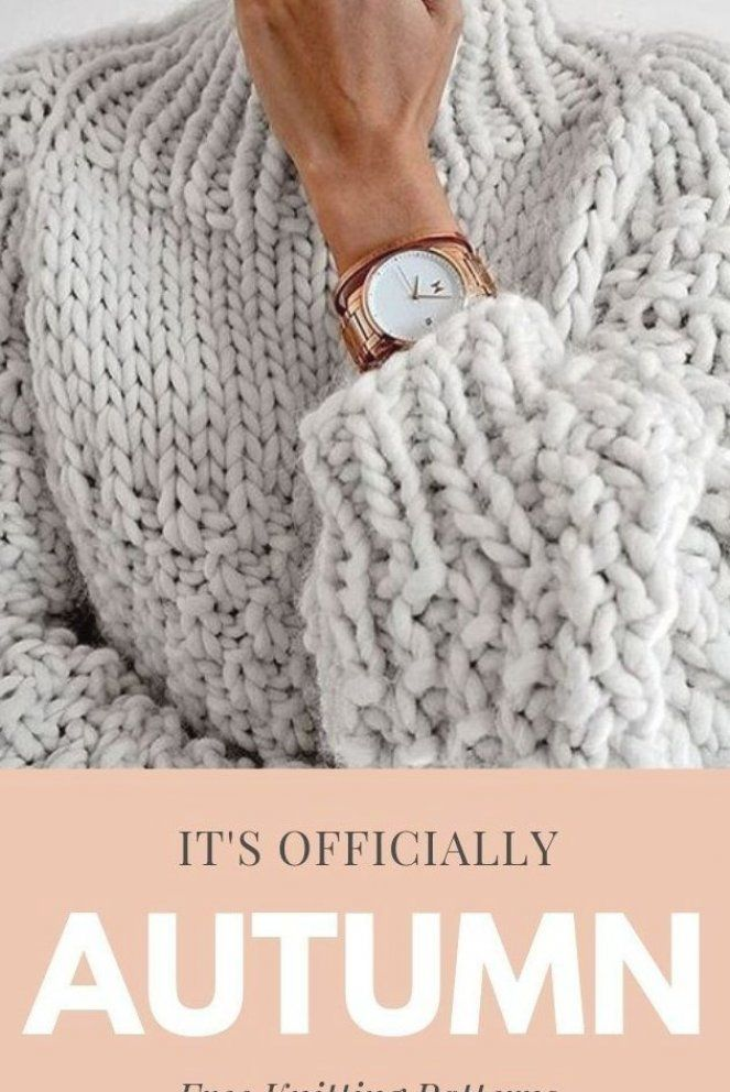 Free knitting patterns that are perfect for autumn  Take a look at hat patterns  scarf patterns  gloves  and blanket patterns   knit  knitters  knitting  knittersgonnaknit  autumn #knitting #knittingpatterns #babycardigan
