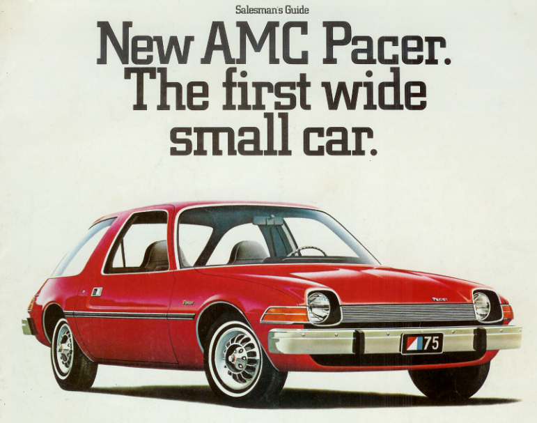 The AMC Pacer was a small compact car produced by American Motors Corporation between 1975 and 1980.