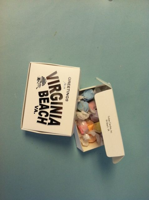3oz Of Salt Water Taffy What A Great Way To Say Greetings From Virginia Beach