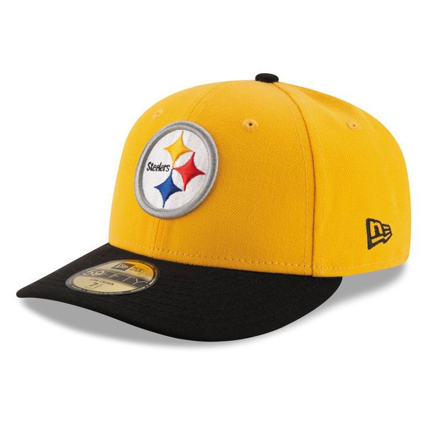 Pittsburgh Steelers New Era 2T Patched Low Profile 59FIFTY Fitted Hat -  Gold Black 53180b42abb