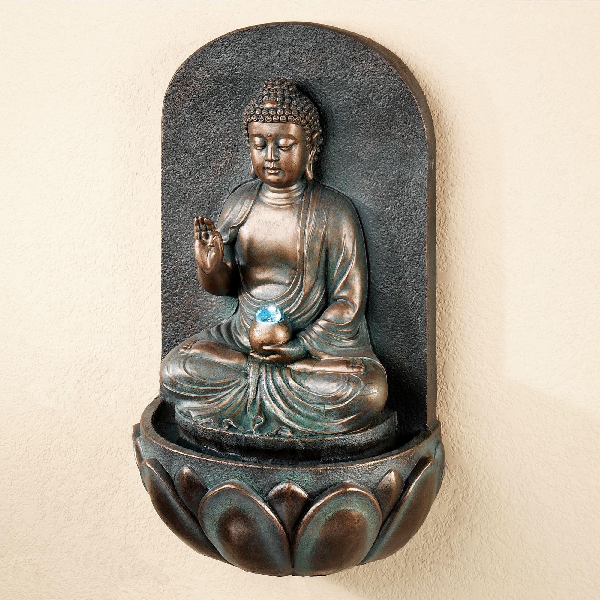 Reflecting Buddha Indoor Outdoor Wall Water Fountain Indoor Water Fountains Water Fountain Fountains