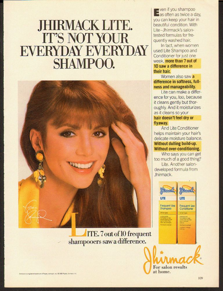 1989 Print Ad For Jhirmack Lite Frequent Use Shampoovictoria