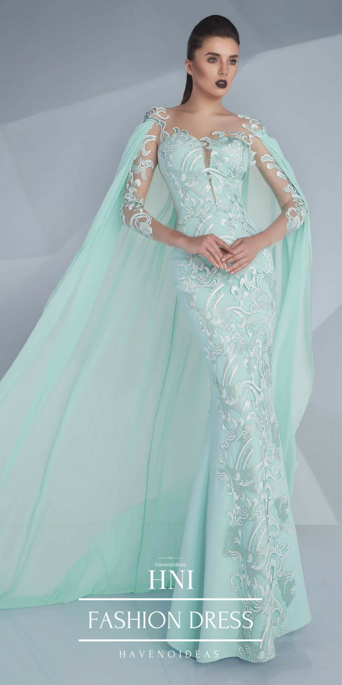 Mnm couture cape dress gown dress hautecouture couture trendy