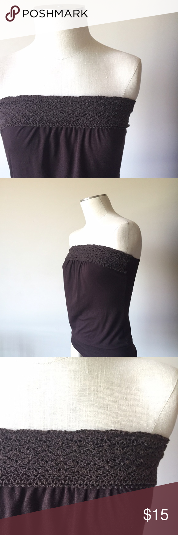 Crocheted Top Crocheted tube top. Size small. Gently worn in great condition. Tops Tank Tops