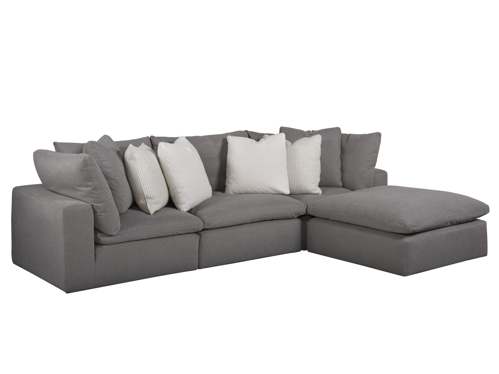 Universal Furniture Modern Palmer Sectional 4 Piece Universal Furniture Sectional Furniture