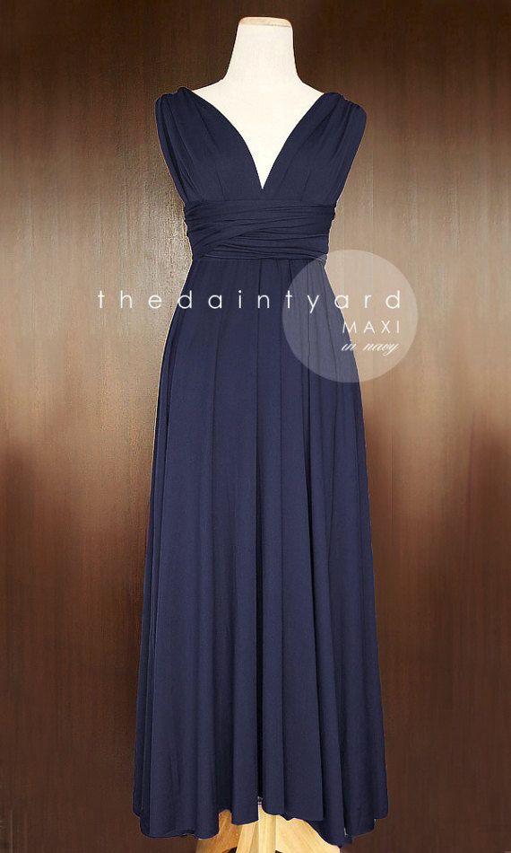 MAXI Marine blau Brautjungfer Kleid Cabrio Kleid Infinity ...