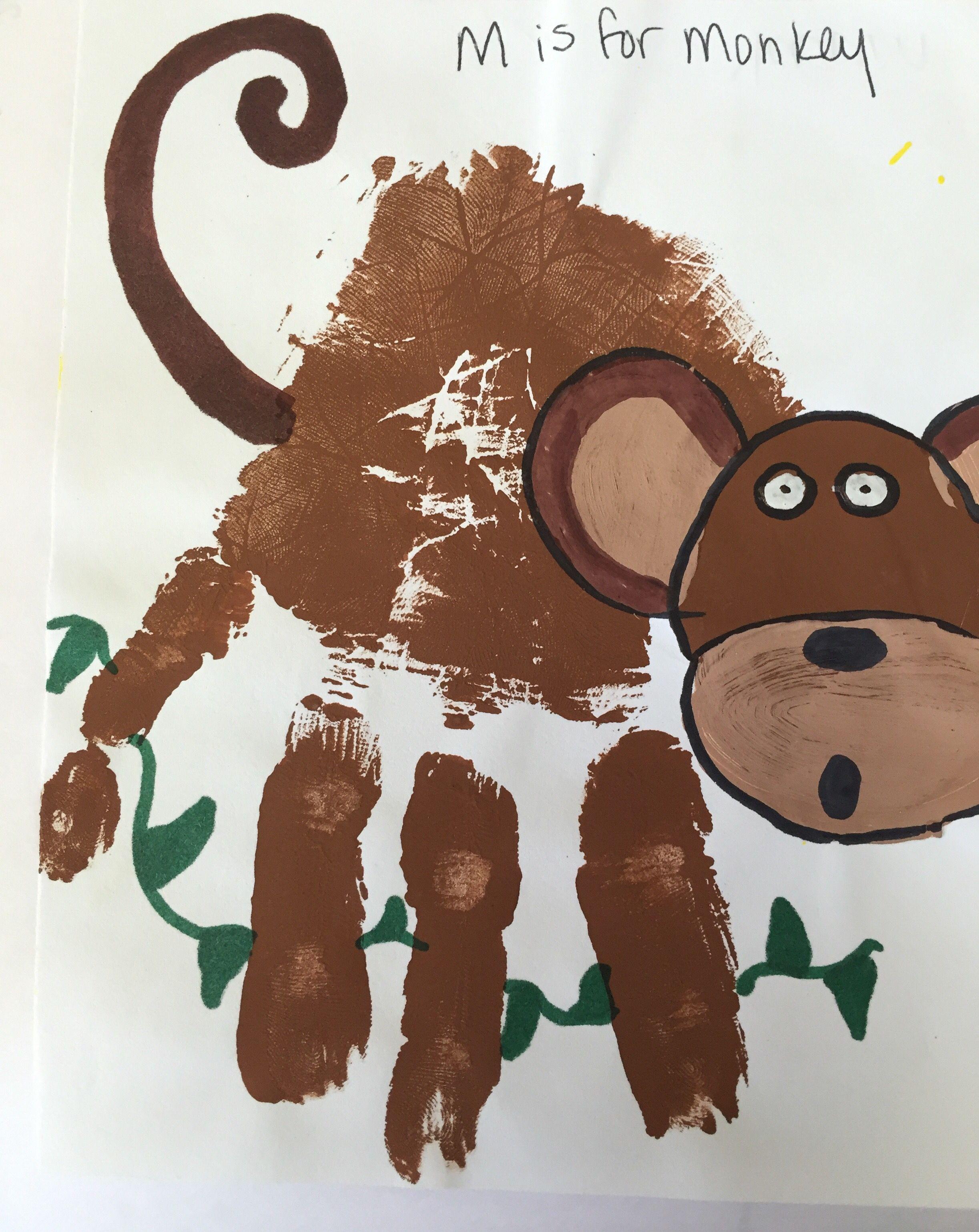 Letter M Handprint Craft