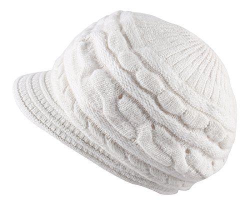 Kaisifei Women Winter Warm Knit Hat Ski Caps with Visor (... https ... 0c0016f182c