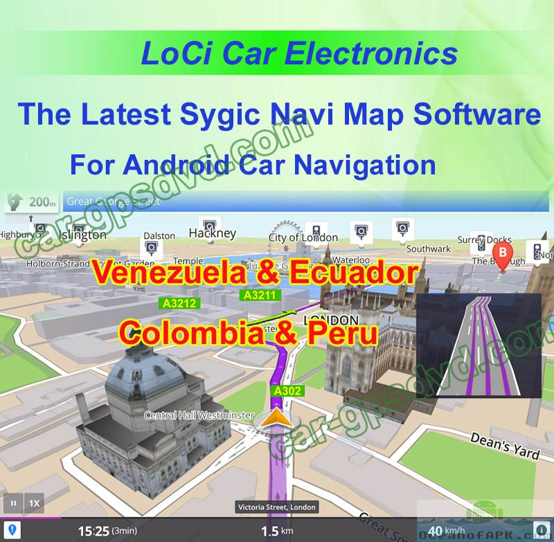 South America Ecuador Colombia Peru Venezuela Sygic car