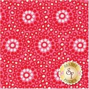 Sundborn Garden 25020-PIN1 Pink Dot Flower By Kathy McGee For Red Rooster Fabrics