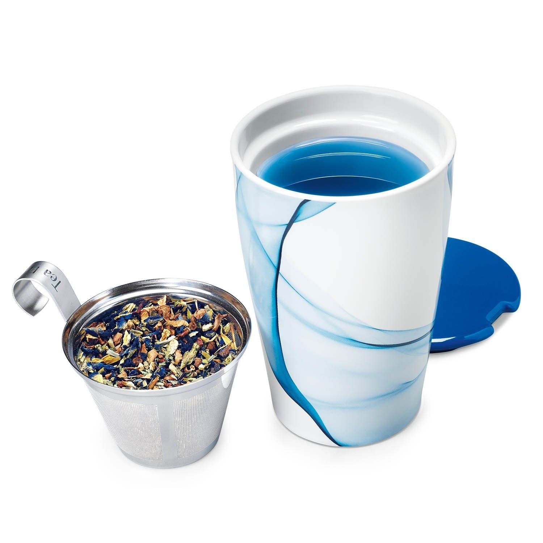 Tea Forté KATI Cup Ceramic Tea Brewing Cup with Infuser