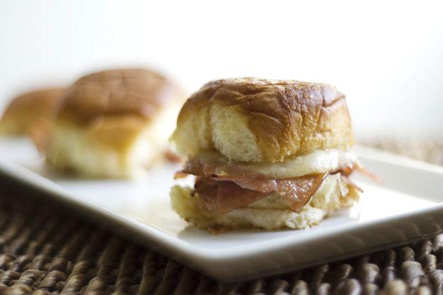 mini ham sandwich