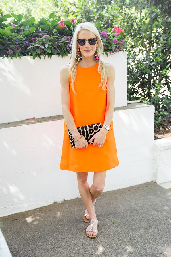 Lisa Perry orange dress | Luella & June