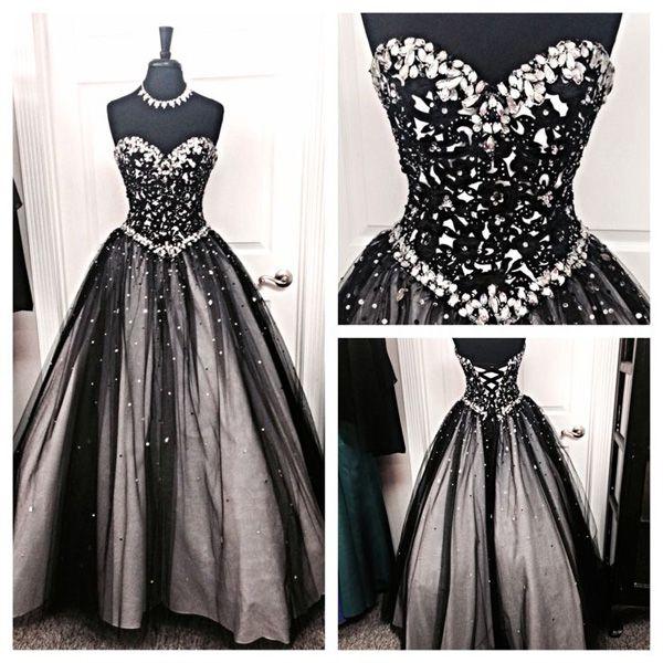 Tüll schwarze Abendkleider,sexy and elegant.Der Link:http://goo.gl ...