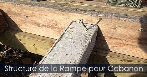 Structure d\'une rampe d\'accès pour cabanon remise ou abri de jardin ...