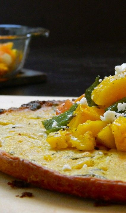 Farinata with Roasted Fall Vegetables and Crumbled Feta ...