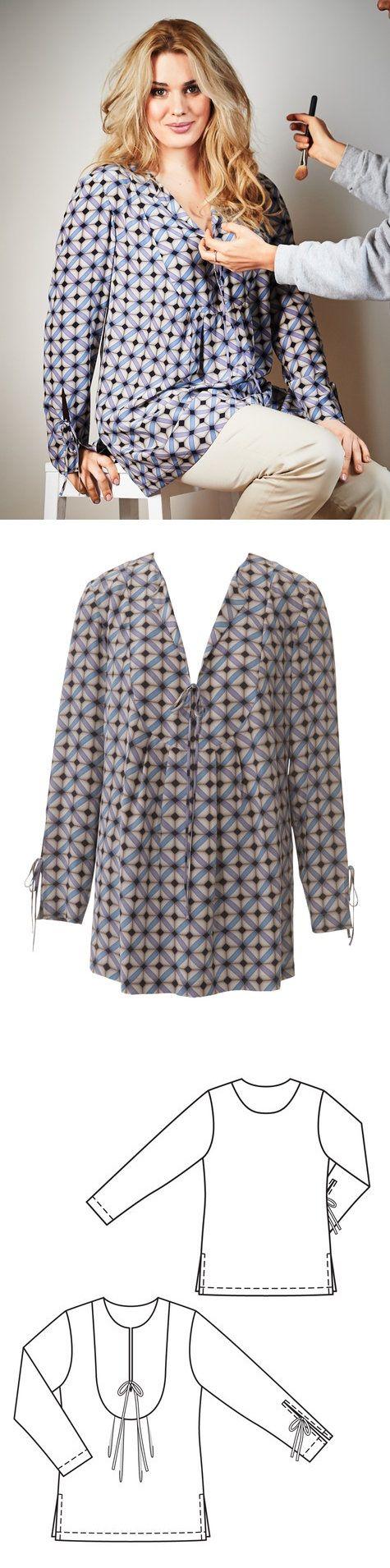 Yoked tunic plus size 062013 142 sewing patterns tunics and yoked tunic plus size 062013 142 plus size sewing patternstunic jeuxipadfo Image collections